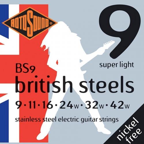Rotosound BS9 British Steels Gitaarsnaren voor Elektrische Gitaar (9-42)