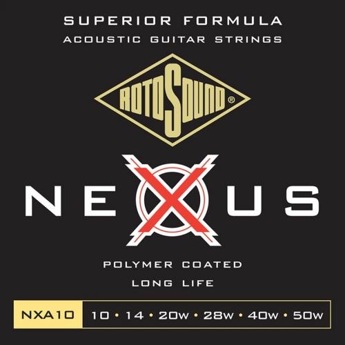 Rotosound NXA10 Nexus Coated Phosphor Bronze Westernsnaren (10-50)