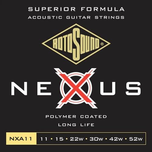 Rotosound NXA11 Nexus Coated Phosphor Bronze Westernsnaren (11-52)