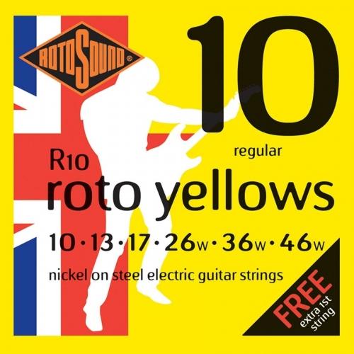Rotosound R10 Roto Yellows Snarenset voor Elektrische Gitaar (10-46)