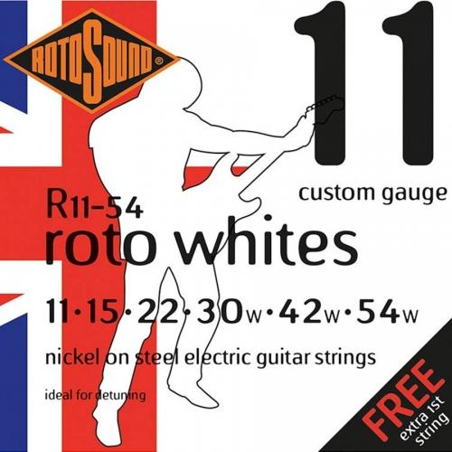 Rotosound R11-54 Roto Whites Snarenset voor Elektrische Gitaar (11-54)