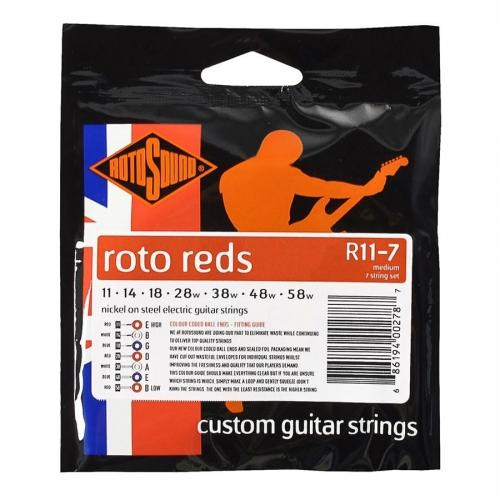 Rotosound R11-7 Roto Reds Gitaarsnaren voor Elektrische Gitaar (11-58)