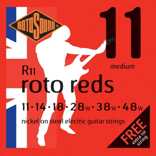 Rotosound R11 Roto Reds Snarenset voor Elektrische Gitaar (11-48)