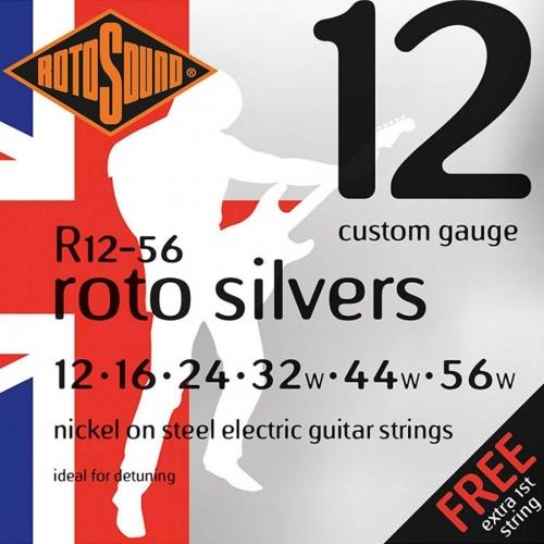 Rotosound R12-56 Roto Silvers Snarenset voor Elektrische Gitaar (12-56