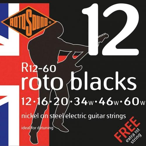 Rotosound R12-60 Roto Blacks Snarenset voor Elektrische Gitaar (12-60)