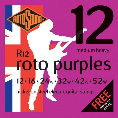 Rotosound R12 Roto Purples Snarenset voor Elektrische Gitaar (12-52)