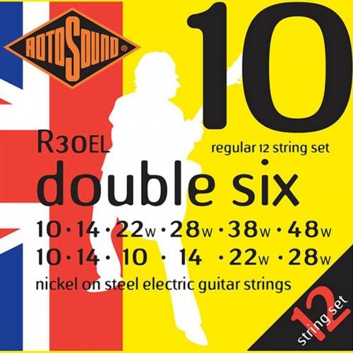 Rotosound R30EL Gitaarsnaren voor 12-Snarige Elektrische Gitaar (10-48)