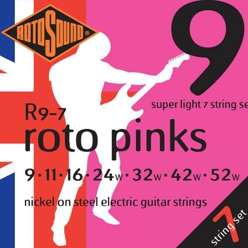Rotosound R9-7 Pinks Gitaarsnaren voor 7-Snarige Elektrische Gitaar (9-52)