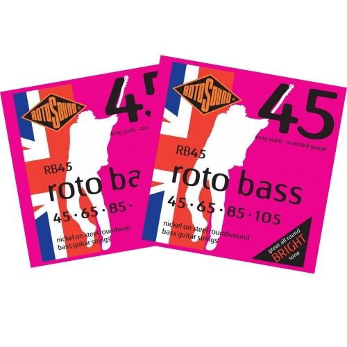 Rotosound RB45 Roundwound Bassnaren (45-105) 2-Pack