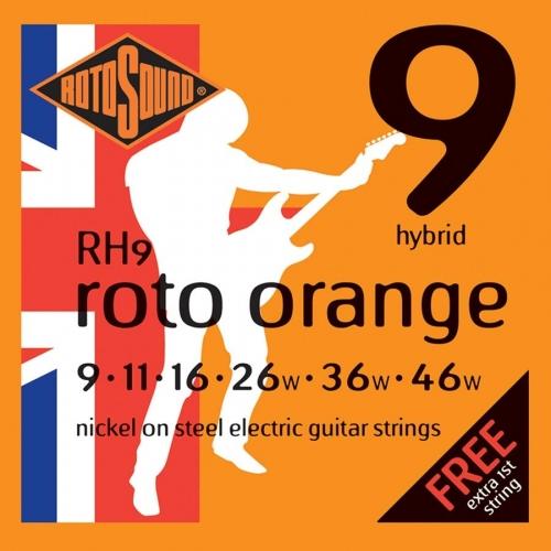 Rotosound RH9 Roto Orange Snarenset voor Elektrische Gitaar (9-46)