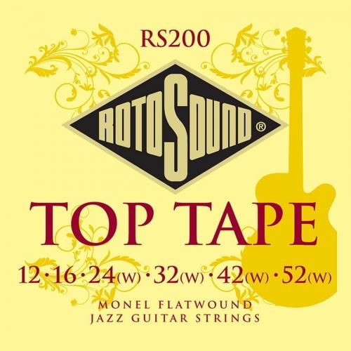 Rotosound RS200 Monel Flatwound Jazz Gitaarsnaren voor Elektrische Gitaar (12-52)