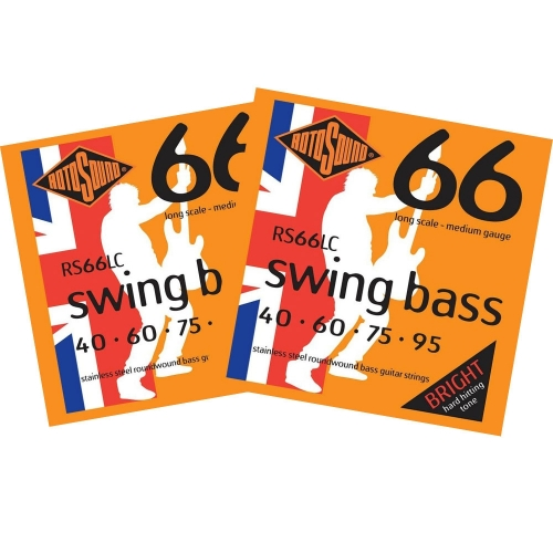 Rotosound RS66LC Bassnaren Long Scale (40-95) 2-Pack