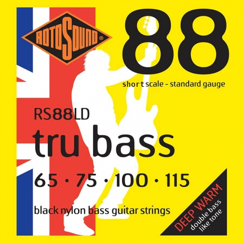 Rotosound RS88S Black Nylon Bassnaren (65-115)