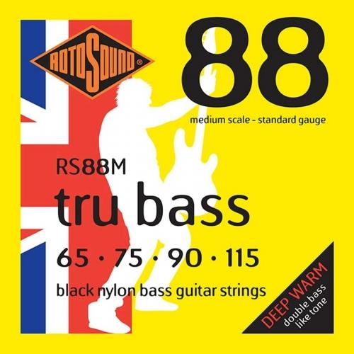 Rotosound RS88M Black Nylon Bassnaren (65-115)