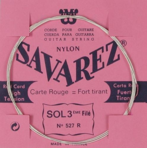 Losse Savarez 527R nylon e-snaar uit het Savarez 520F snarenset met hoge snarenspanning.