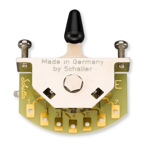 Schaller 15310002 Megaswitch E 5-Standenschakelaar met Zwarte Tip
