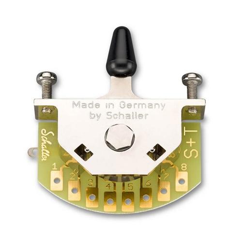 Schaller 15310003 Megaswitch S 5-Standenschakelaar met Zwarte Tip