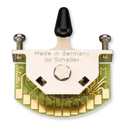 Schaller 15310006 Megaswitch M 5-Standenschakelaar met Zwarte Tip