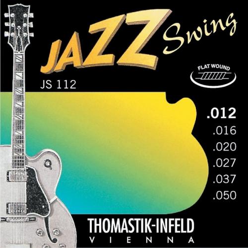 thomastik infeld js112 flatwound snaren voor jazz gitaar