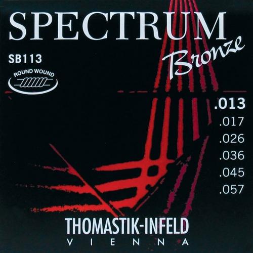 Thomastik SB113 Bronze Roundwound Akoestische Snaren (13-57)