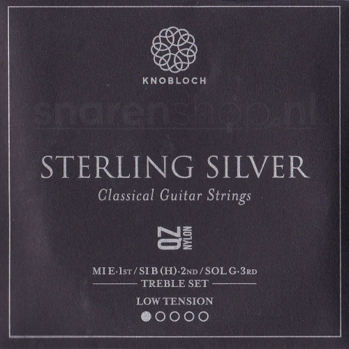 Knobloch 200SQZ Sterling Silver QZ Nylon Treble Set - Lage Spanning