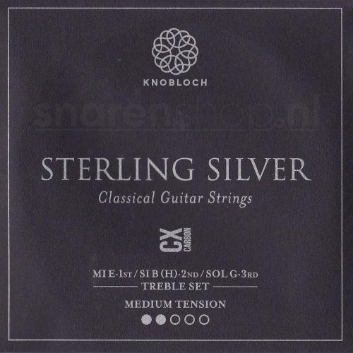 Knobloch 300SCX Sterling Silver CX Carbon Treble Set - Normale Spanning
