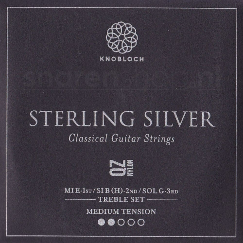 Knobloch 300SQZ Sterling Silver QZ Nylon Treble Set - Normale Spanning