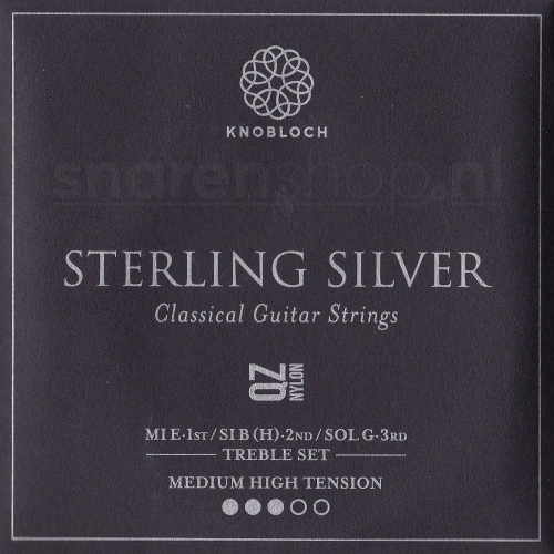 Knobloch 400SQZ Sterling Silver QZ Nylon Treble Set - Normaal / Hoge Spanning