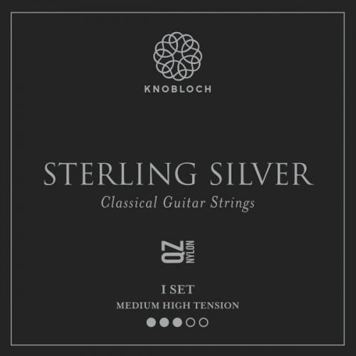 Knobloch 400SSQ Sterling Silver QZ Nylon Gitaarsnaren - Normaal / Hoge Spanning
