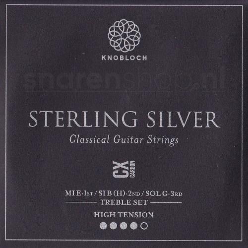 Knobloch 500SCX Sterling Silver CX Carbon Treble Set - Hoge Spanning