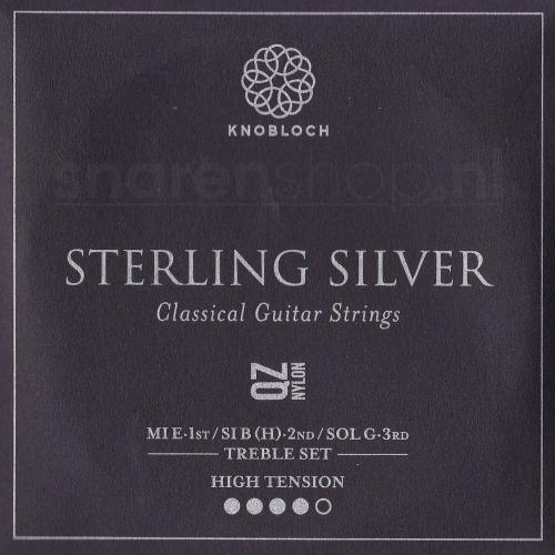 Knobloch 500SQZ Sterling Silver QZ Nylon Treble Set - Hoge Spanning