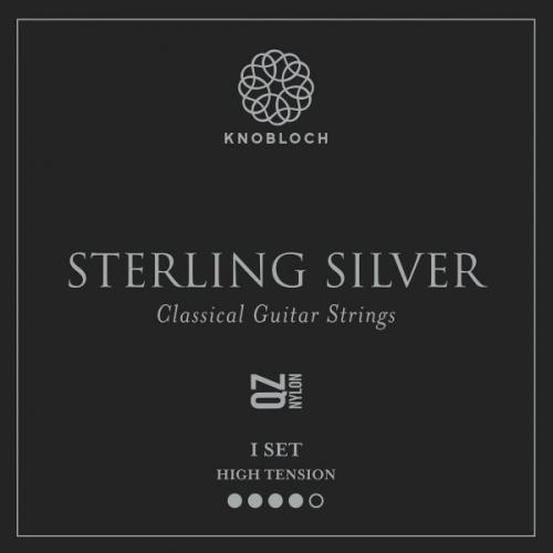 Knobloch 500SSQ Sterling Silver QZ Nylon Gitaarsnaren - Hoge Spanning