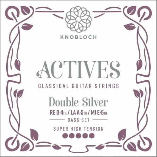 Knobloch 600ADS Double Silver Bass Set - Extra Hoge Spanning