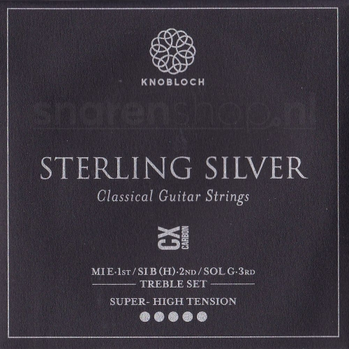 Knobloch 600SCX Sterling Silver CX Carbon Treble Set - Extra Hoge Spanning