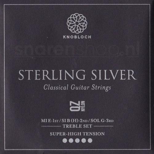 Knobloch 600SQZ Sterling Silver QZ Nylon Treble Set - Extra Hoge Spanning