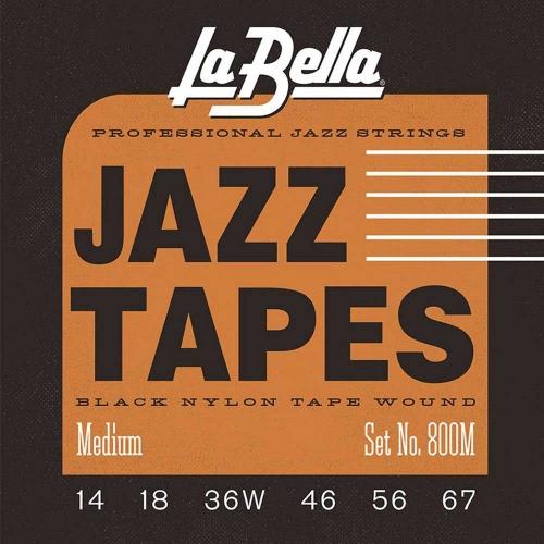 La Bella 800M Nylon Tape Wound Elektrische Gitaarsnaren (14-67)