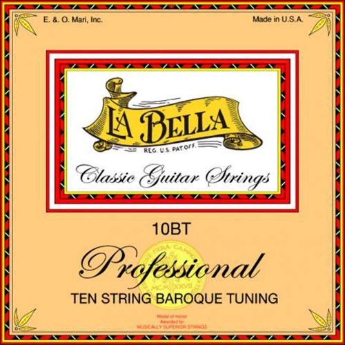 La Bella 10BT Klassieke Gitaarsnaren 10-Snarig - Barok Stemming