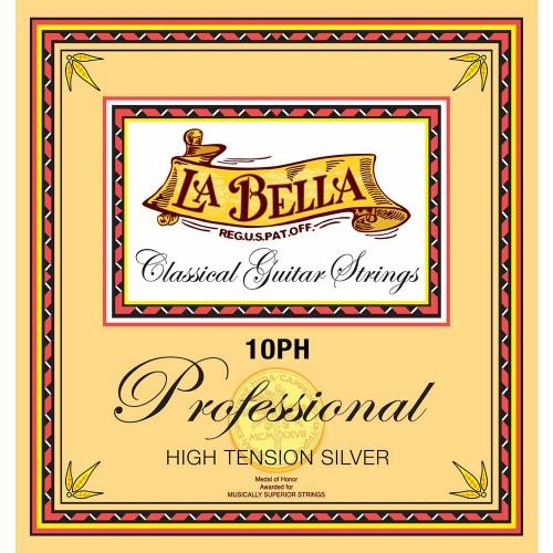 La Bella 10PH Professional Snarenset voor Klassieke Gitaar -  Hoge Spanning
