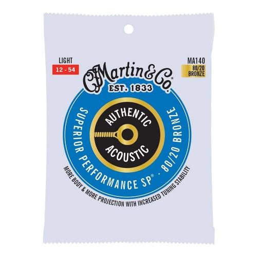 Martin MA140 Snaren voor Akoestische Gitaar (12-54) Bronze, Light