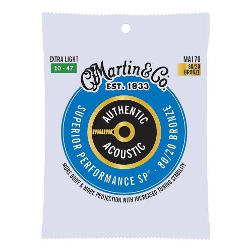 Martin MA170 Snaren voor Akoestische Gitaar (10-47) Bronze, Extra Light