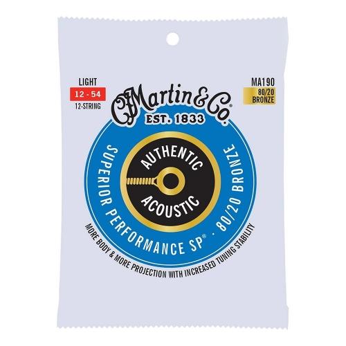 Martin MA190 Snaren voor 12-Snarige Akoestische Gitaar (12-54) Bronze, Light
