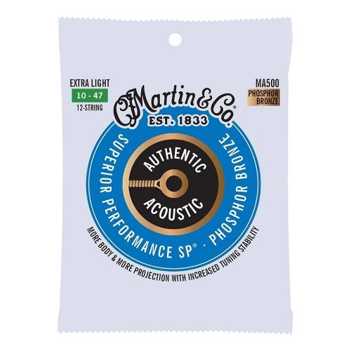 Martin MA500 Snaren voor 12-Snarige Akoestische Gitaar (10-47) Phosphor Bronze, Extra Light