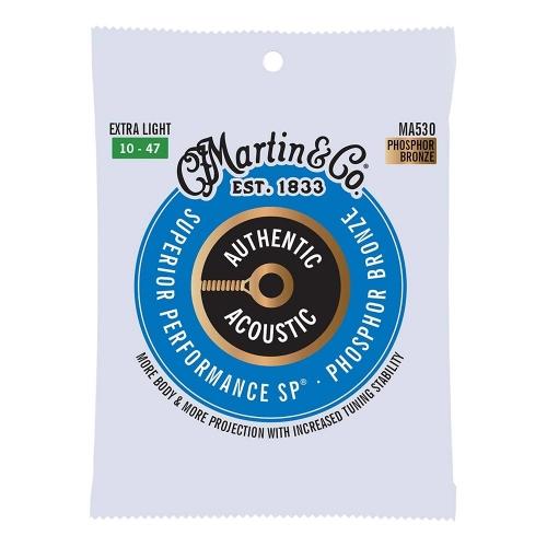 Martin MA530 Snaren voor Akoestische Gitaar (10-47) Phosphor Bronze, Extra Light