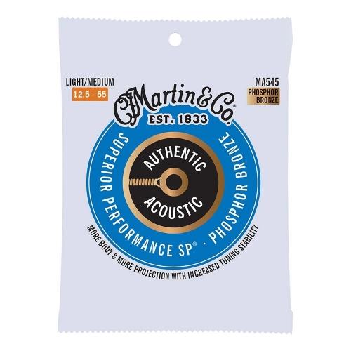 Martin MA545 Snaren voor Akoestische Gitaar (12.5-55) Phosphor Bronze, Light / Medium