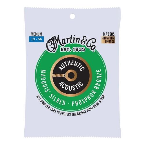 Martin MA550S Silked Snaren voor Akoestische Gitaar (13-56) Phosphor Bronze, Medium