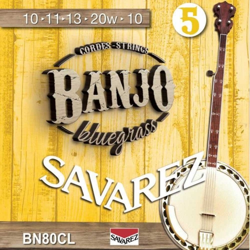 Savarez BN80CL Banjosnaren 5-Snarig Custom Light (10-20)