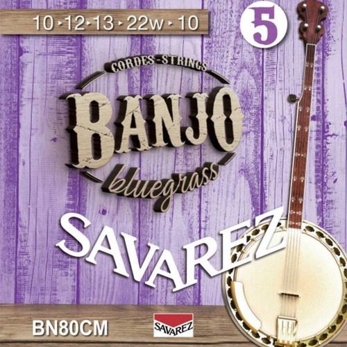 Savarez BN80CM Banjosnaren 5-Snarig Custom Medium (10-22)