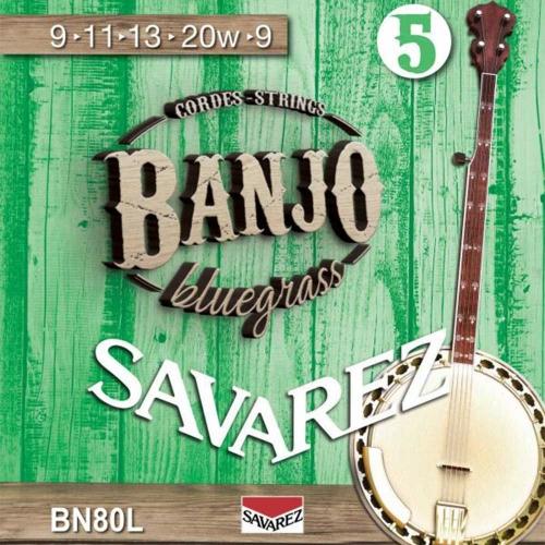Savarez BN80L Banjosnaren 5-Snarig Light (9-20)