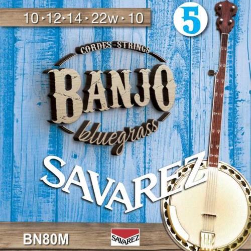 Savarez BN80M Banjosnaren 5-Snarig Medium (10-22)
