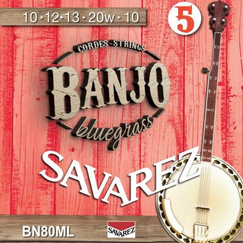 Savarez BN80ML Banjosnaren 5-Snarig Medium Light (10-20)